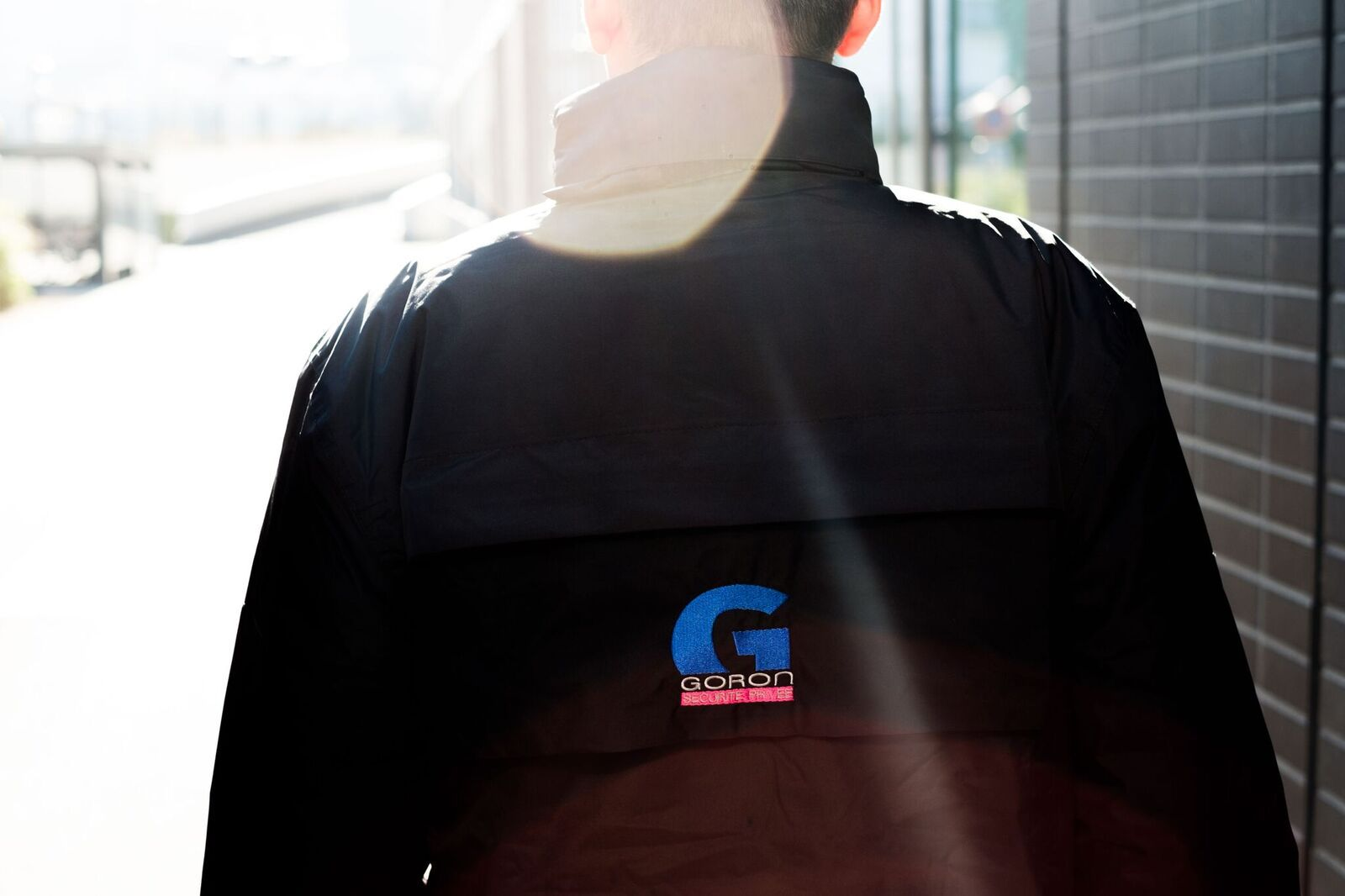 a private sucirty gard walking