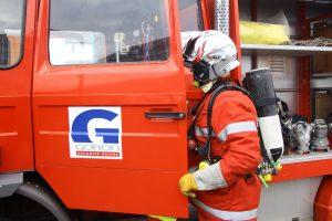 Agent incendie GORON camion intervention