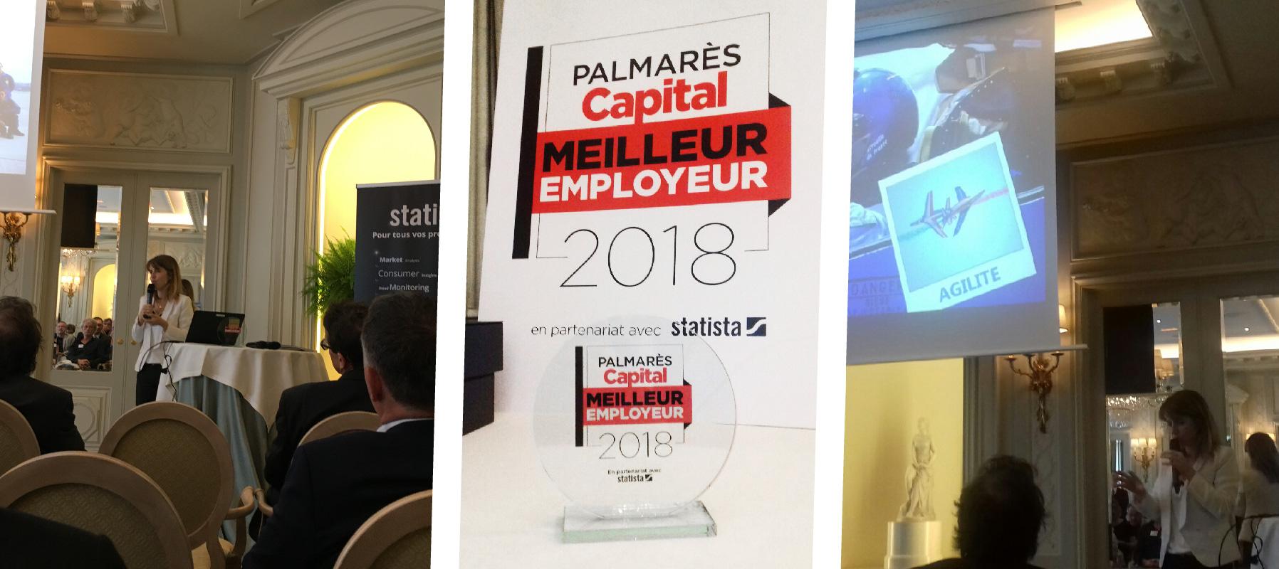 Goron a reçu le trophée de meilleur employeur 2018 dans un palace parisien