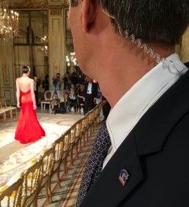 a private security agent in a fashion show