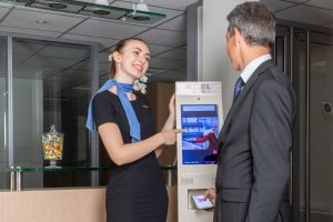 Retrouvez toutes informations concernant la borne électronique d'accueil de Théma Services
