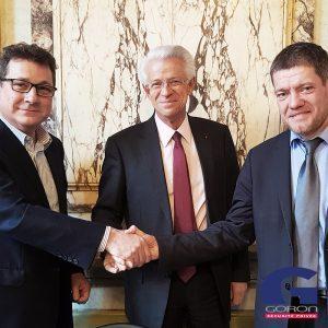Signature du partenariat entre Goron et la CCI pour la création d'une formation
