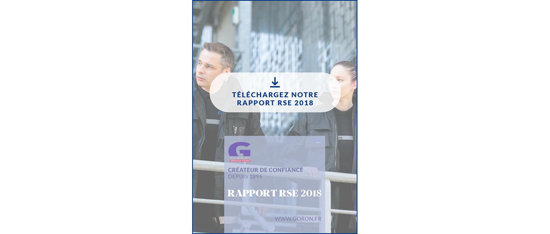 Téléchargez le rapport RSE 2018 de la société GORON
