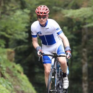 coureur cycliste portant un maillot Goron